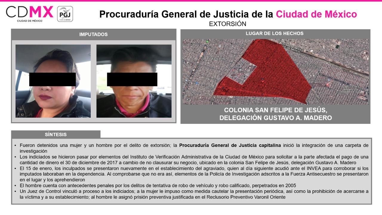 Detienen en flagrancia a dos personas por extorsión a dueño de negocio; Juez las vinculó a proceso || El Hispano News